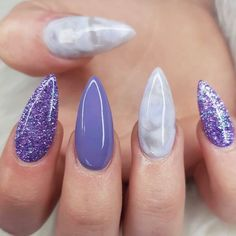 Purple haze acrylic nail
