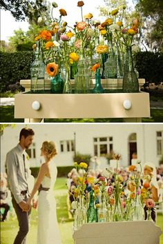 Bottles As Wedding Decor | Intimate Weddings - Small Wedding Blog - DIY Wedding Ideas for Small and Intimate Weddings - Real Small Weddings