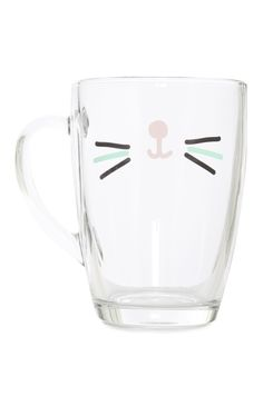 Primark - Gabriella Cat Face Glass Mug