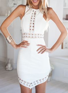 Sleeveless Hollow Asymmetrical Dress