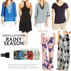 What to wear in rainy season: Women's casual clothes