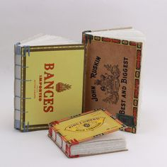 Bances - Cigar Box Book - Sketch - Journal - Coptic Bound - Blank
