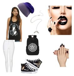 """""""Anime and Chill"""" by alternativehuman on Polyvore featuring Ciel, Sebastian Professional, Topshop and Static Nails"""