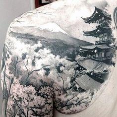 Mountain Tattoo Ideas For Men On Back Shoulder