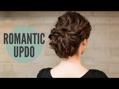 How To:Curly Romantic Updo - YouTube