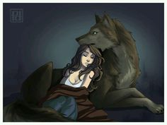 The wolf wrapped himself around the teenage girl. Nobody would hurt her anymore, not with him protecting her