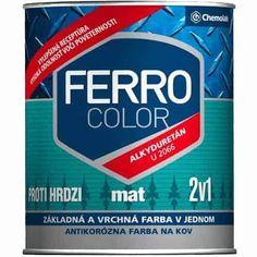 Ferro Color 2:1 Zománcfesték, Matt - 2990Ft – 8990Ft Ferro Color 2:1 Zománcfesték, Matt Korróziógátló anyagot tartalmazó 2 az 1-ben, matt zománcfesték. Használható zománcra, acélra, vasra, alumíniumra és horganyzott, valamint oxidálódott felületre. Magas fokú rugalmasságot, időjárásnak való ellenállást és dekoratív megjelenést kölcsönöz a kezelt felületnek. További információ a Ferro Color 2:1 Zománcfesték termékről Szín: 1000 – Fehér, 1999-Fekete Kiszerelés