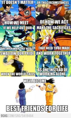Dragon Ball Z on friendship