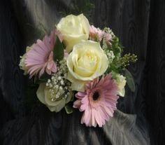 Cute lavender and white bridesmaid bouquet