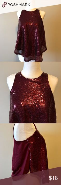 Rue 21 Red Sequin Tank Top New with tags. Rue 21 Tops Tank Tops