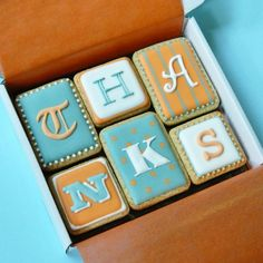 Thanks Cookie Card Edible Thanks card - iced to order in your chosen colours : Campervan Cookies, Delicious handmade and bespoke cookies
