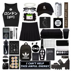 """""""❝ i'm scared to get close and i hate being alone. i long for that feeling to not feel at all. the higher i get, the lower i'll sink. i can't drown my demons, they know how to swim.  ❞"""" by majesticpizzaslice ❤ liked on Polyvore featuring Illustrated People, NIKE, Chapstick, Christofle, MAC Cosmetics, Retrò, Miss Selfridge, Topshop, ASOS and Windsor Smith"""