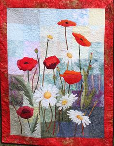 """Poppies and Daisies"" by Moira Byrne"