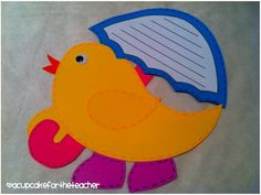 April craft!  Chick with umbrellas :)  Visit me to see more from this packet!