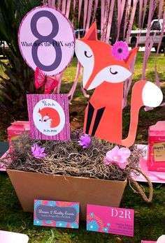 What Does the Fox Say? Birthday Party Decorations!  See more party ideas at CatchMyParty.com!