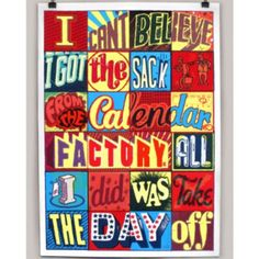 Andy Smith I Got The Sack Print ($80) ❤ liked on Polyvore featuring home, home decor, wall art and paper wall art