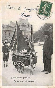 Photo Insolite Noir Blanc Petits Metiers Paris Vintage