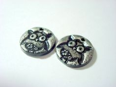 Baby Owls Polymer Clay Beads by PennysLane on Etsy, $3.00