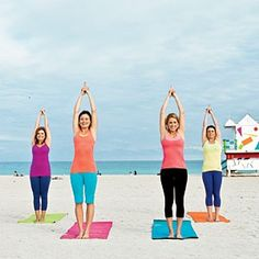 Years ago we did Jane Fonda's workout together....now it's all about Yoga.