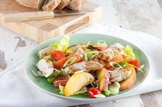 Peach and Chicken Salad