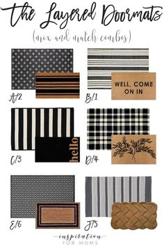 Freshen up your front door step with a new layered doormat and rug combo! and rug combos Fashion Look Featuring Pottery Barn Indoor Rugs by - ShopStyle