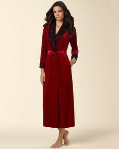 Soma Intimates Oscar de la Renta Long Robe Cabernet #somaintimates                                               #MySomaWishList