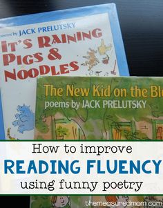 You just need a book of funny poems for this easy activity that improves reading fluency! Reading Fluency Activities, Reading Tutoring, Fluency Practice, Reading Intervention, Reading Strategies, Reading Skills, Teaching Reading, Reading Comprehension, Teaching Poetry