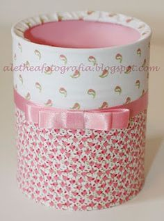 Tin Can Crafts, Fun Crafts, Diy And Crafts, Crafts For Kids, Arts And Crafts, Paper Crafts, Pot A Crayon, Recycle Cans, Bottles And Jars
