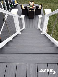 Image result for grey deck with cable railing