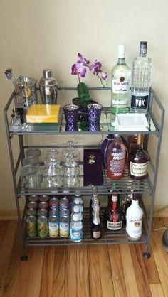 My budget diy bar cart