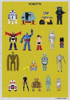 MAGMA (for) space series - federico babina - Robots