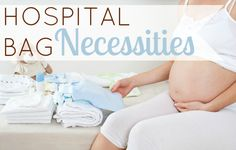Daily Mom » Hospital Bag Necessities - a no-fuss list of things to pack for the birth of your baby in a hospital #labor #pregnancy #birth #hospitalbag #dailymom