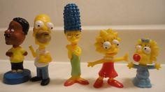 Lot of 5 THE SIMPSON'S & FAMILY GUY MINI BOBBLE HEAD TOMY 2002 VENDING MACHINE   #Tomy