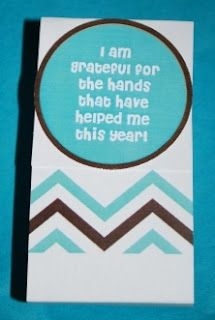 Cover a pocket size hand sanitizer and attach a little saying (printed for free) for a teacher thank you!