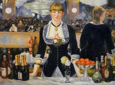 A Bar at the Folies-Bergeres Edouard Manet by PaintingMania