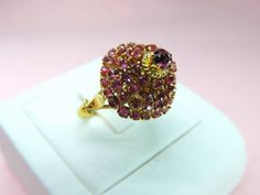 Vintage Nature Pink Sapphire Cocktail Ring