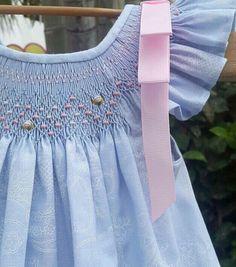 Vestido azul de bebé vestido del bebé país por amelieboutiquekids