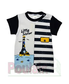 2b8eae0a30b Φορμάκι Μακό Κοντομάνικο «Little Sailor» | Poulain.gr #βρεφικά_ρούχα  #παιδικά_ρούχα #βρεφικά_φορμάκια #φορμάκι #φορμάκια #αγόρι # μικρό_αγόρι  #poulain ...