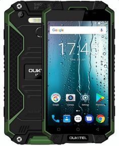 OUKITEL K10000 Max 3GB 32GB 4G LTE MT6753 Android 7.0 Smartphone 5.5-inch 16MP camera 10000mAh battery IP68 waterproof Green