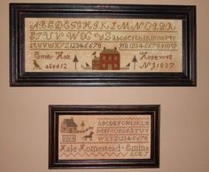 No pattern but beautiful Embroidery Sampler, Cross Stitch Embroidery, Cross Stitch Patterns, Cross Stitch Samplers, Cross Stitching, Country Primitive, Primitive Decor, Primitive Stitchery, Prim Decor
