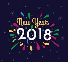 Eye Catching New Year 2018 Wishes Wallpaper