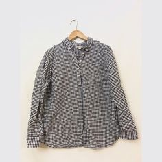 Gap maternity shirt Blue and white flannel mid button shirt. 100% cotton and in great condition Gap  Tops Button Down Shirts