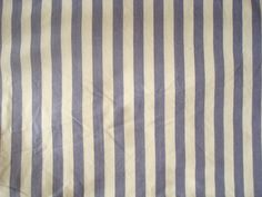 Blue and White Striped thick quality fabric Width- 141cm, Length- 445cm  #Unbranded