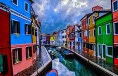 rainbow facades of burano by Ercan Sahin