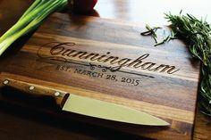 Custom Engraved Cutting Board Established by SugarTreeGallery