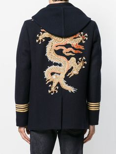 Gucci Dragon Emroidered Peacoat $4,500 - Buy Online AW17 - Quick Shipping, Price