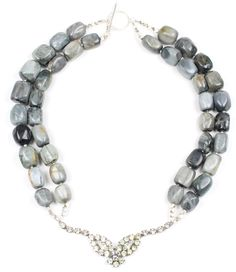 Statement Kette, Statement Necklace, Handmade, Jasper, Vintage - Show Your Sparkle - Bertha Louise