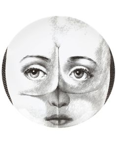 Buy Fornasetti face print plate - White by Fornasetti : International delivery on Sendit. Piero Fornasetti, Bohemian Interior, Coaster Set, Painted Furniture, Arts And Crafts, Art Crafts, Objects, House Design, Wall Art