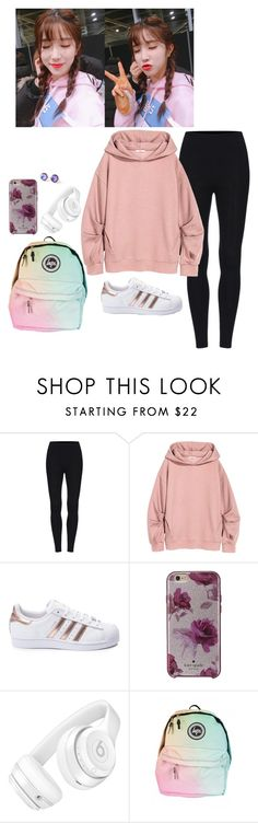 """""""-Going for a run-"""" by daddyslittlestprincess ❤ liked on Polyvore featuring adidas, Kate Spade and Beats by Dr. Dre"""