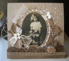 Heritage Scrapbook Pages, Vintage Scrapbook, Scrapbook Journal, Scrapbook Layouts, Smash Book Pages, Family Album, Marianne Design, Vintage Cards, Cardmaking